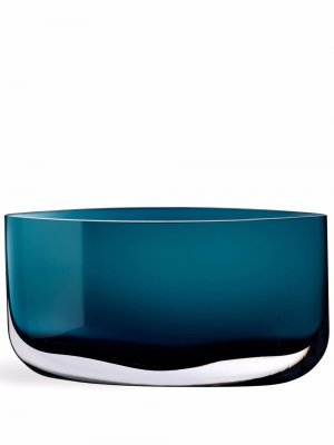 Широкая ваза Blade Nude. Цвет: синий