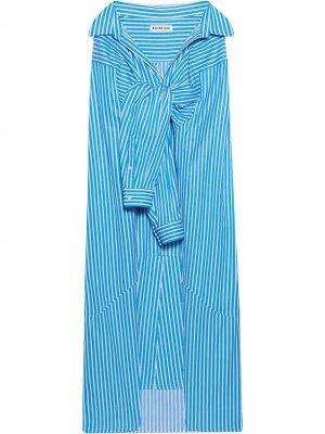 Юбка с завязками Balenciaga. Цвет: синий