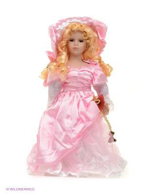 Кукла фарфор Адэлина 16 дюймов Angel Collection. Цвет: розовый