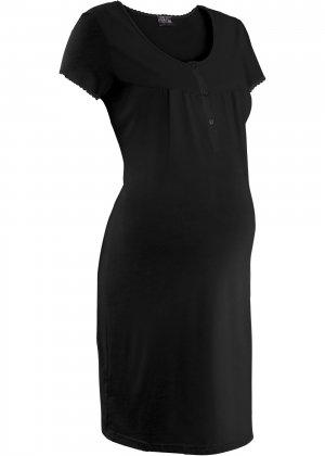 Ночная рубашка для беременных bonprix. Цвет: черный