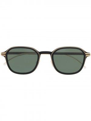 Солнцезащитные очки в квадратной оправе Mykita. Цвет: черный