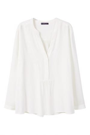 Блузка MANGO VIOLETA. Цвет: белый