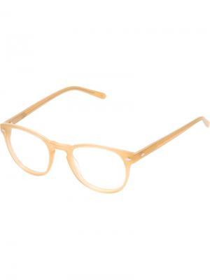 Очки и Оправы Lesca. Цвет: телесный