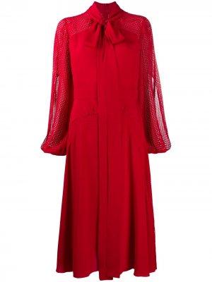 Платье миди с бантом Nº21. Цвет: красный