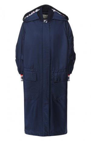 Пальто с капюшоном Fendi. Цвет: синий