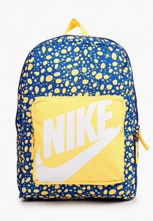 Рюкзак Nike Y NK CLASSIC BKPK - AOP SU21. Цвет: синий