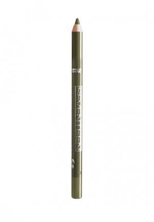 Карандаш для глаз Seventeen водостойкий т.13 Super Smooth W/P&Longstay олива. Цвет: зеленый