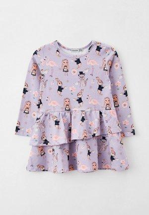 Платье Ete Children. Цвет: фиолетовый