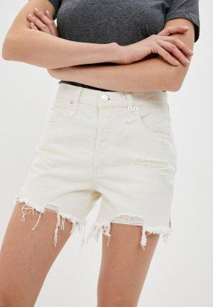 Шорты джинсовые Free People. Цвет: белый