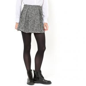 Юбка плотная со складками и карманами, GATOU GAT RIMON. Цвет: серый меланж