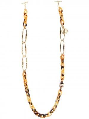 Цепочка для очков с логотипом Chloé Eyewear. Цвет: золотистый