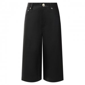 Кожаные шорты Rag&Bone. Цвет: чёрный