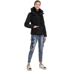 Куртка короткая со съемным капюшоном DESIGUAL. Цвет: красный,черный