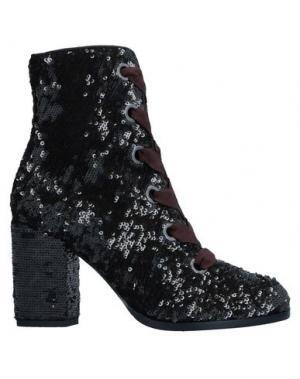 Полусапоги и высокие ботинки ALBERTO GOZZI. Цвет: темно-коричневый