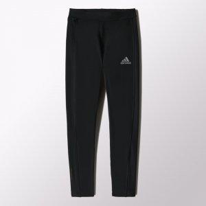Утепленные леггинсы для бега Sequencials ClimaHeat Performance adidas. Цвет: черный