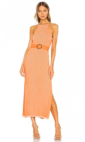 Макси платье lily NICHOLAS. Цвет: оранжевый