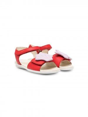 Сандалии Twins с открытым носком Camper Kids. Цвет: красный