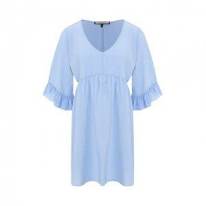 Шелковое платье Fisico. Цвет: синий