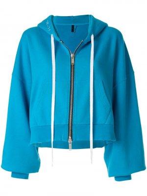 Куртка-бомбер с капюшоном UNRAVEL PROJECT. Цвет: синий