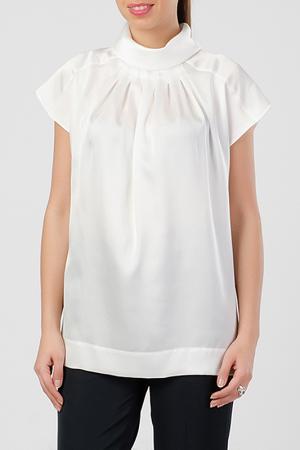 Блузка TUZUN. Цвет: белый