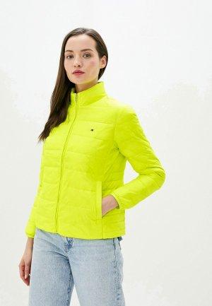 Куртка утепленная Tommy Hilfiger. Цвет: желтый
