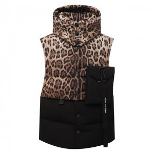 Пуховый жилет Dolce & Gabbana. Цвет: леопардовый