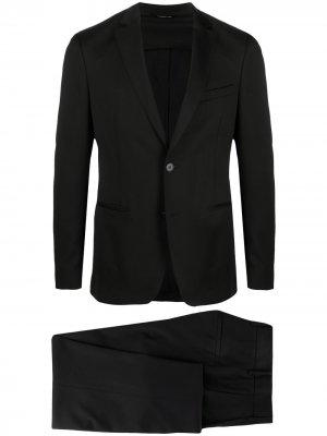 Костюм с однобортным пиджаком Tonello. Цвет: черный