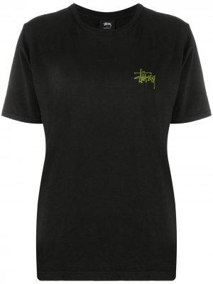 Logo-print crew neck T-Shirt Stussy. Цвет: черный