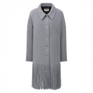 Шерстяное пальто Dorothee Schumacher. Цвет: серый