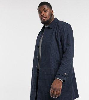 Макинтош в клетку Big & Tall-Темно-синий Burton Menswear