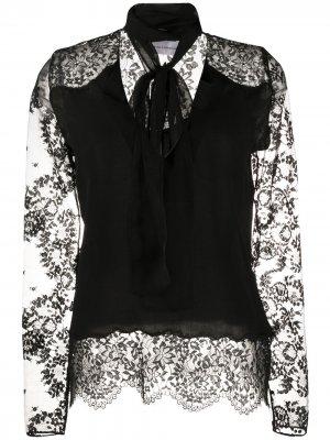 Блузка с кружевными рукавами Faith Connexion. Цвет: черный