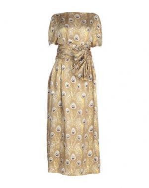 Длинное платье ALBINO. Цвет: зеленый-милитари