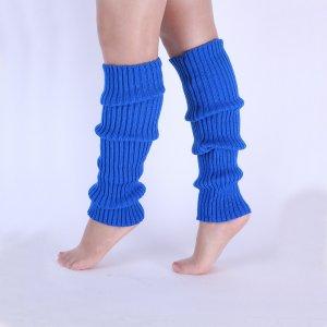 Вязаные носки для танцев SHEIN. Цвет: ярко-синий