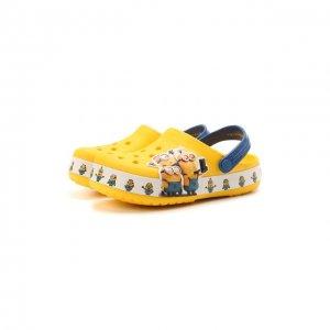 Сабо Minions Crocs. Цвет: жёлтый