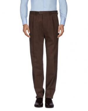 Повседневные брюки HOLDEN. Цвет: темно-коричневый