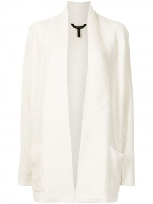 Кардиган-пальто с накладными карманами BCBG Max Azria. Цвет: белый