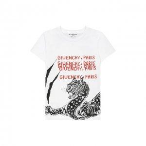 Хлопковая футболка Givenchy. Цвет: белый