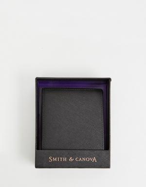 Черный бумажник Smith & Canova And. Цвет: черный