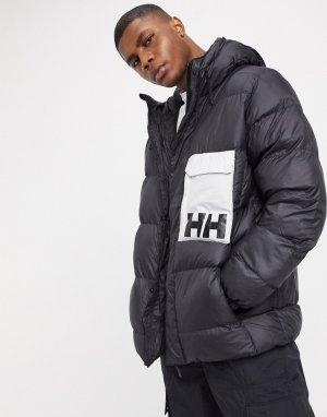 Черная дутая куртка -Черный Helly Hansen