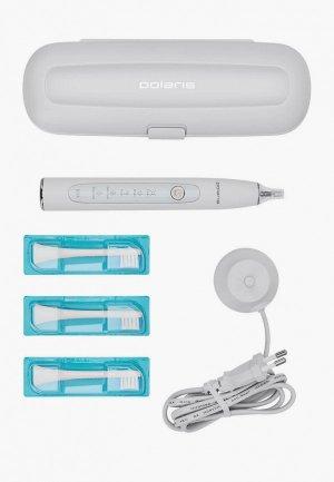 Набор для ухода за полостью рта Polaris зубная щетка и сменные насадки, 3 шт.. Цвет: белый