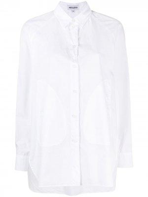 Рубашка со вставками Kenzo. Цвет: белый