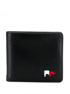 Кошелек с логотипом Maison Kitsuné. Цвет: черный