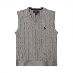Хлопковый жилет Polo Ralph Lauren. Цвет: серый