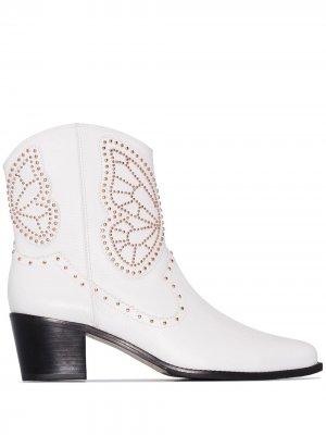 Ковбойские ботинки Shelby 50 Sophia Webster. Цвет: белый