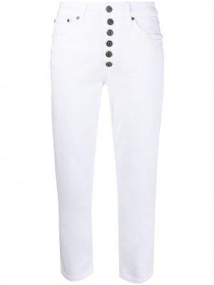 Укороченные джинсы средней посадки Dondup. Цвет: белый