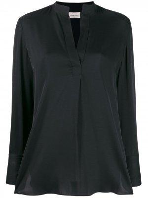Расклешенная блузка с V-образным вырезом By Malene Birger. Цвет: черный
