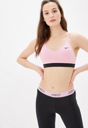 Топ спортивный Nike WOMENS INDY SPORTS BRA. Цвет: розовый