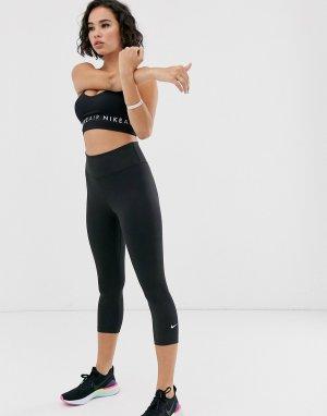 Черные леггинсы-капри one-Черный Nike Training