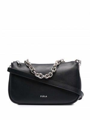 Маленькая сумка на плечо Moon Furla. Цвет: черный
