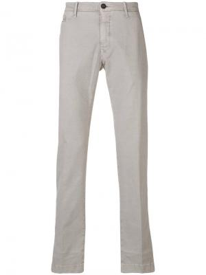 Классические брюки-чинос Jacob Cohen. Цвет: серый
